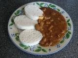 Sójový guláš s vepřovým masem recept
