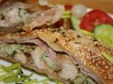 Plněné listové těsto kuřecím masem a šunkou recept