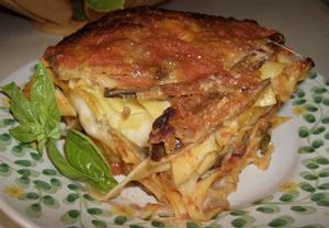 Zapečené těstoviny alla parmigiana