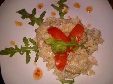 Italské rizoto s kuřecím masem a houbami