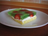 Vodnický koláč s jahodami recept