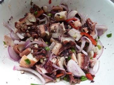 Salát z chobotnic