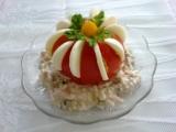 Rajče s vejci a salátem recept
