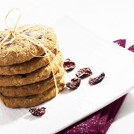 Ovesné cookies s brusinkami recept