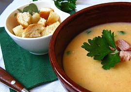 Uzená polévka s mladými fazolemi  flažolety recept