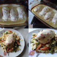 Plněná kuřecí prsa v sýrové omáčce recept