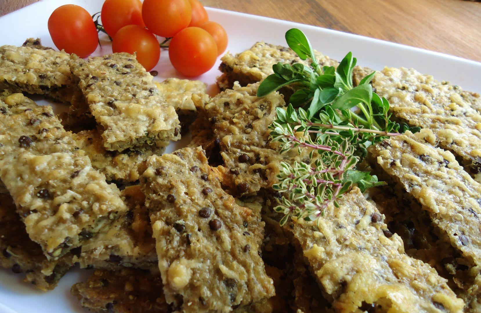 Sýrové řezy z quinoy a čočky recept