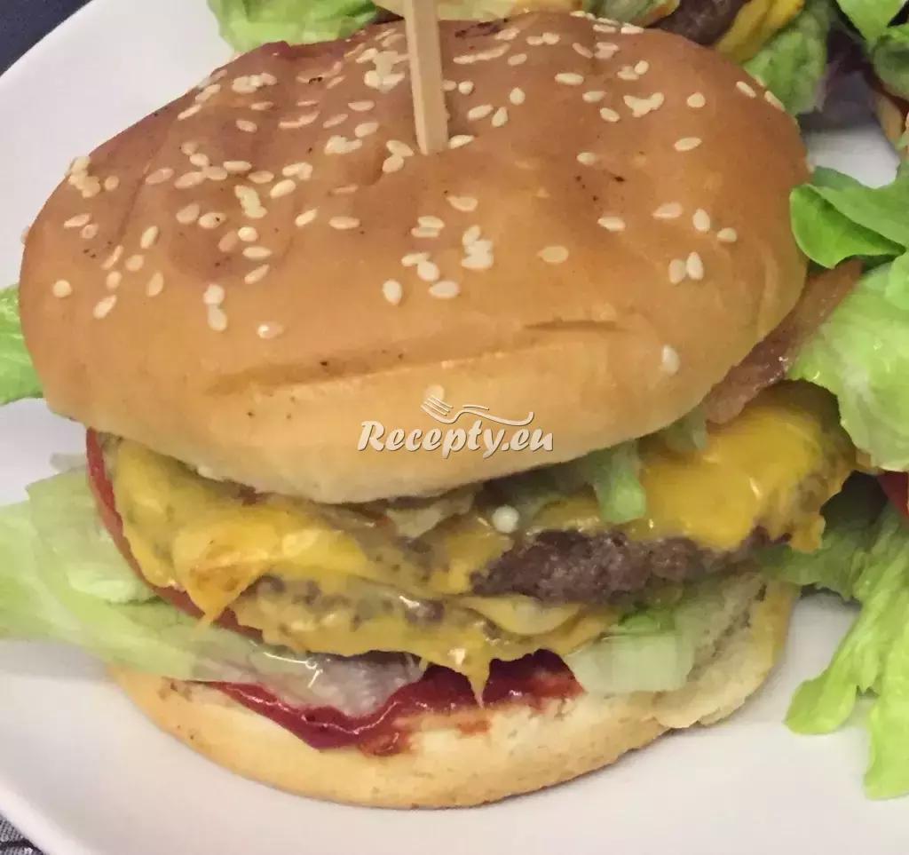 Hamburger recept  grilování