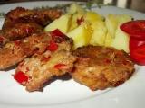 Grilované placičky s červenou paprikou recept