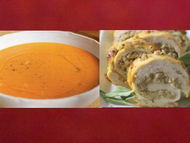 Sváteční oběd 18  Papriková polévka a Kuřecí roláda