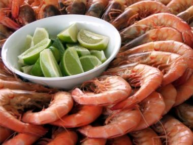 Recept Krevety v kokosovo-chilli omáčce