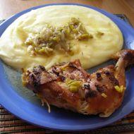 Pečené kuře na pórku recept