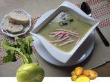 Kedlubnová krémová polévka se šunkovými nudličkami recept ...