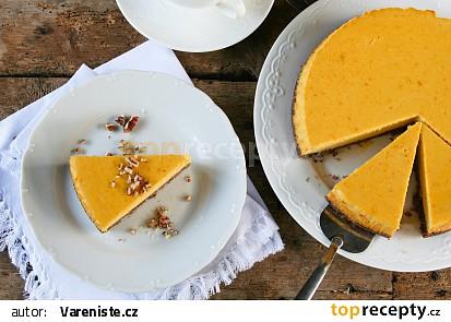 Dýňový tvarohový koláč bez cukru recept