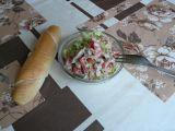 Letní salát s vařeným kuřecím masem recept