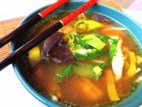 Kuřecí polévka s pastou Miso recept