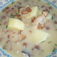 Jemná bramborová polévka s liškami recept