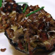 Grilované plněné portobello recept