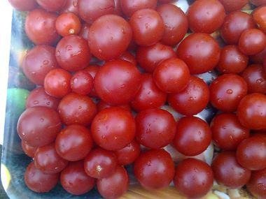 Plněná rajčata vaječnou pěnou