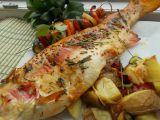 Zlatý pstruh na bylinkách se zeleninovými špízy recept  TopRecepty ...