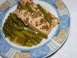 Marinovaný losos na zeleném chřestu recept