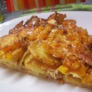 Zapékané brambory s masem a kukuřicí recept
