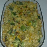 Zapečené těstoviny s brokolicí a cuketou recept