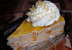 Jogurtový tropik dort  nepečený