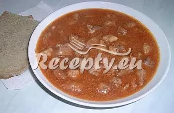 Vepřový chilli guláš recept  vepřové maso