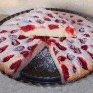 Jemný koláč s jahodami recept
