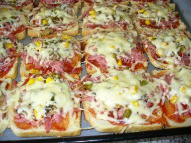 Pizza z toastového chleba