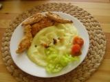 Kuřecí řízky v marinádě s jogurtem, se sýrem a s krabími tyčinkami ...