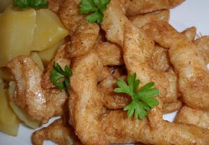 Rybí hranolky (nudličky) v těstíčku