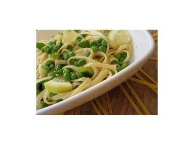 Recept Žampionové těstoviny s hráškem