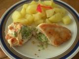 Kuřecí kapsy s brokolicovou náplní recept