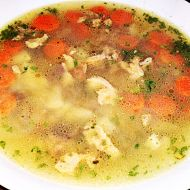 Polévka z kohoutích drobů recept