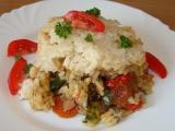 Vepřové ragů s rýžovou peřinkou recept