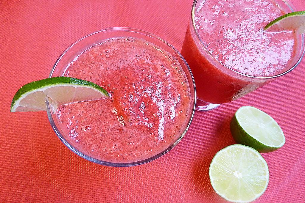 Ledová limonáda z červeného melounu recept