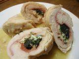 Tříbarevné kuřecí závitky recept