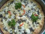 Houbová pizza recept