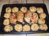 Pečené kuře s houbovými knedlíky recept
