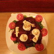 Salát z červené řepy a kozího sýra recept