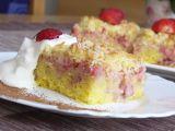 Jahodovo  kokosový koláč recept