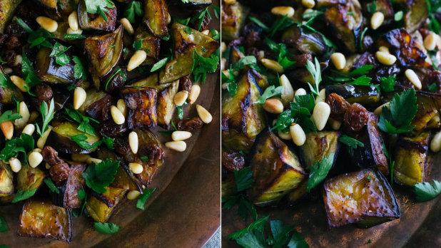 Lilkový salát s petrželí a rozinkami