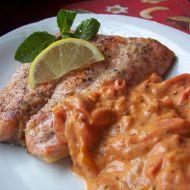 Losos s rajčatovým přelivem recept