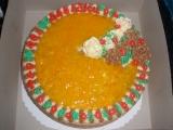 Ovocný dort s růžičkama recept