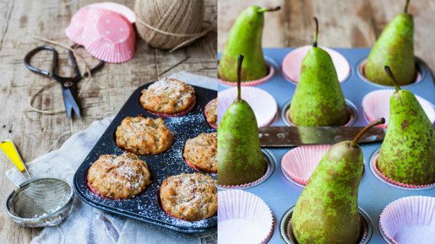 Hruškovo-kokosové muffiny