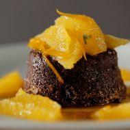 Čokoládový dortík s pomerančovým kompotem recept