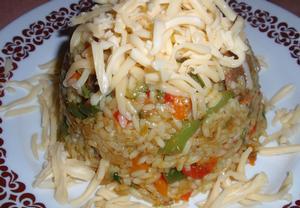 Zeleninová rýže s přírodním masem