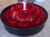 Ovocný dvojpatrový dortík recept